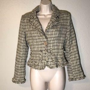 Z ZENOBIA Plaid Chanel inspired Blazer